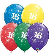 "11"" Special Assorted 50 Count 16 All Around Latex Balloons"