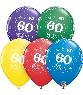 "11"" Special Assorted 50 Count 60 All Around Latex Balloons"