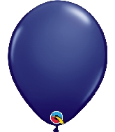 "11"" Qualatex Latex Balloons 25 Per Bag  Navy"