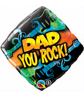 "18"" Dad You Rock Mylar Balloon"