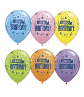 "11"" Birthday! Fun Dots Assorted (50 ct.)"