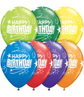"11"" Birthday Loops & Stars Carnival Assortment (50 ct.)"