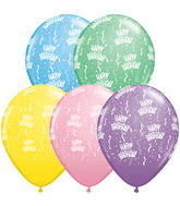 "11"" Birthday-A-Round Pastel Assortment (50 ct.)"
