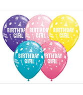 "11"" Birthday Girl Assorted (50 ct.)"