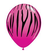 "11"" Zebra Stripes Around Wild Berry (50 Count)"
