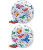 "22"" Butterflies Bubble Balloon"