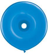 "16"" Geo Donut Latex Balloons (25 Count) Dark Blue"