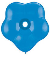 "6"" Geo Blossom Latex Balloons  (50 Count) Dark Blue"