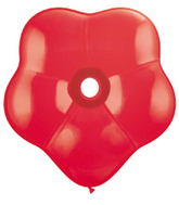 "16"" Geo Blossom Latex Balloons  (25 Count) Red"