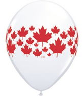 "11"" Maple Leaf-A-Round White (50 ct.) Canada"
