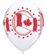 "11"" Canadian Flag  White (50 ct.) Canada"