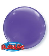 "15"" Purple Violet Self Sealing Plastic Balloon (4 ct.)"