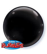 "15"" Onyx Black Self Sealing  Plastic Balloon (4 ct.)"