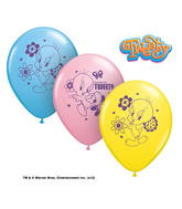 "11"" Tweety Bird Latex Balloons"