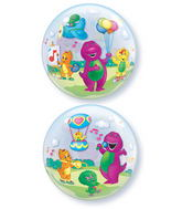 "22"" Barney Licenced Character Bubble Balloons"