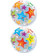 "22"" Brilliant Stars Plastic Bubble Balloons"
