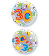 "22"" 30 Brilliant Stars Plastic Bubble Balloons"