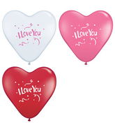 "15"" I Love You Confetti Love Assortment (50 ct.)"