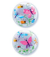 "22"" Colourful Garden Bugs & Insects Bubble Balloons"