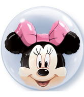 "24"" Minnie Mouse Licenced Character Bubble Balloons"