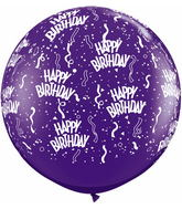 3' Birthday-A-Round Quartz Purple (2 ct.)