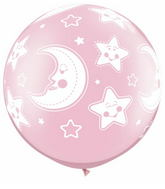 "30"" Baby Moon & Stars Pearl Pink (2 ct.)"