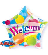 "22"" Welcome Big Dots Plastic Bubble Balloons"