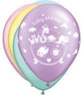 "11"" Adorable Ark Baby Shower Pastel Pearl Assorted (50 ct.)"