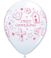 "11""  First Communion Symbols – Girl  White (50 ct.)"