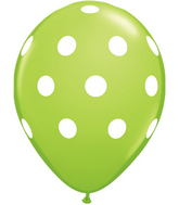 "11"" Big Polka Dots Lime Green (50 ct.)"