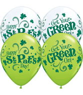 "11"" St. Pat&#39s Get Your Green On Around  (50 Count)"