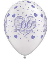 "11"" Little Hearts  Pearl White 60 Anniversary  (50 ct.)"