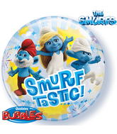 "22"" Smurf-tastic! Licenced Character Bubble Balloons"