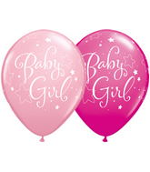 "11"" Baby Girl Stars Assorted Pink & & Wild Berry (50 ct.)"