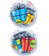"22"" Birthday Fun & Funky Gifts Plastic Bubble Balloons"