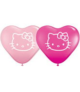 "6"" Hello Kitty Face Balloons Pink and Berry (100 Count)"