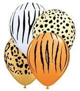 "5"" Assorted Animal Print 100s"