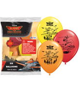 "12"" Disney Fire Rescue 6 pack Latex Balloons"