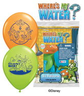 "12"" Where's My Water? 6 pack Latex Balloons"