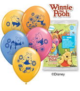 "12"" Pooh & Friends 6 pack Latex Balloons"