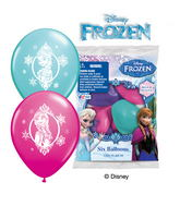 "12"" Disney Frozen 6 pack Latex Balloons"