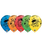 "11"" Graduation Smileys Assorted Colors (50 Ct)"