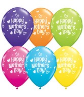 "11"" Mother's Day Hearts and Dots Latex Balloons (50 ct.)"