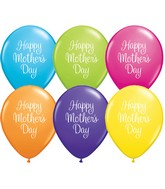 "11"" Mother&#39s Day Classy Script Latex Balloons (50 ct.)"