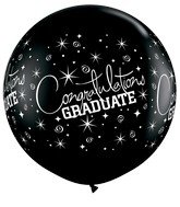 "36"" Congratulations Graduate Onyx Black (2 Count)"