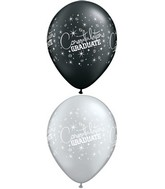 "11"" Congratulations Graduate Silver/Black (50 Count)"