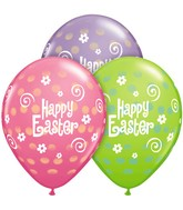 "11"" Easter Polka Dots Latex Balloons (50 ct.)"