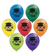 "11"" Look At You Graduation Assorted Colors (50 Ct)"