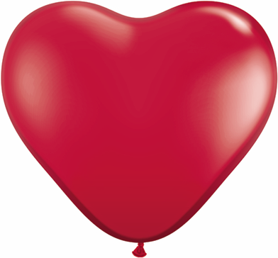 36 Inch Heart Latex Balloons (2 Count) Ruby Red