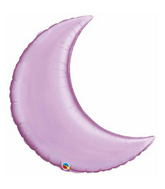 "35"" Crescent Moon Pearl Lavender Balloon"